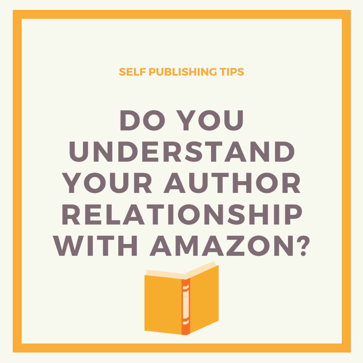 Authors are often misinformed or confused about their relationship with Amazon.