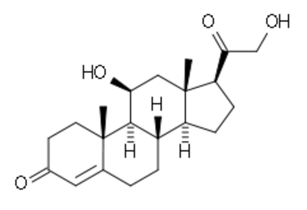 Chemical structure of corticosteroids.