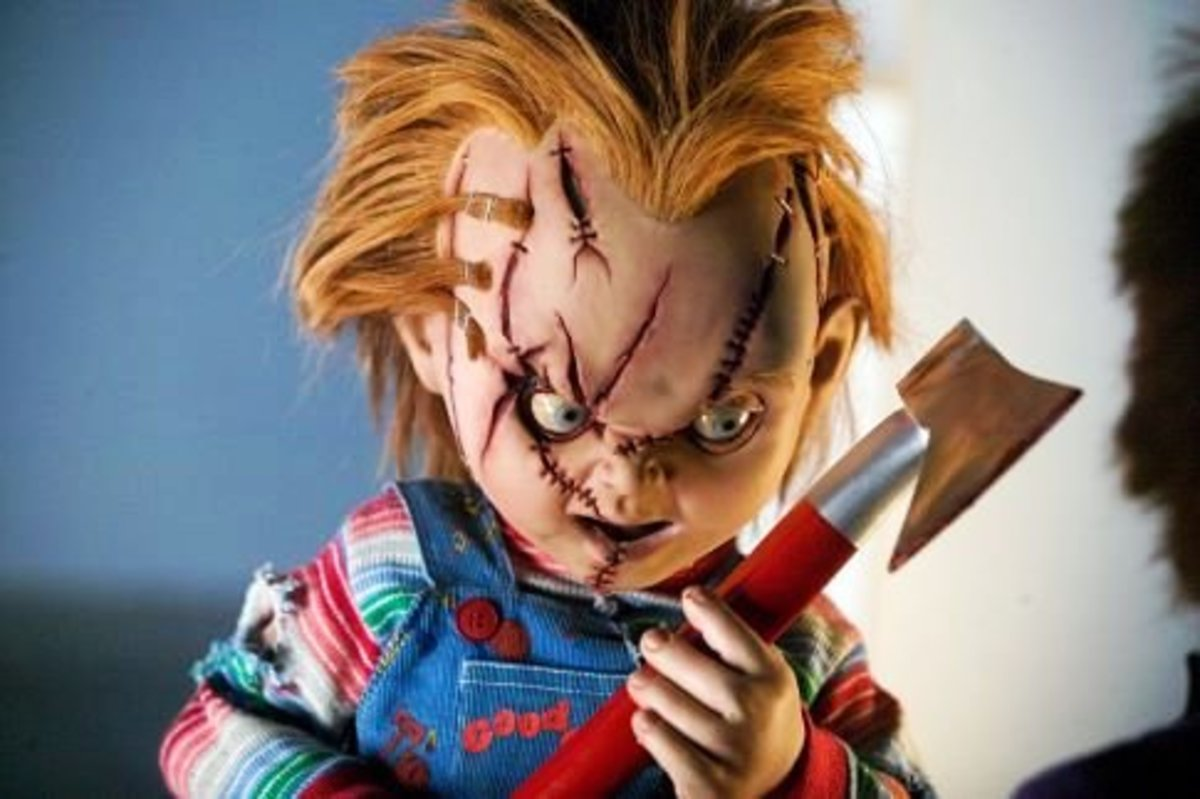 The movie Child's Play and its sequels feature Chucky, a doll with the soul of a serial killer.