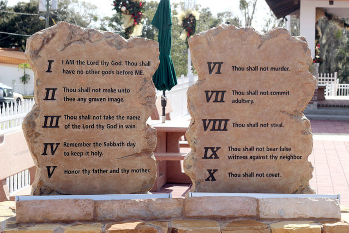 The Bible's ten commandments