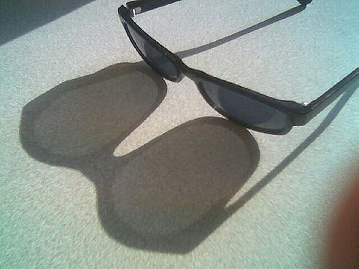 Wearing sunglasses indoors can be helpful to ward off a headache triggered by bright lights.