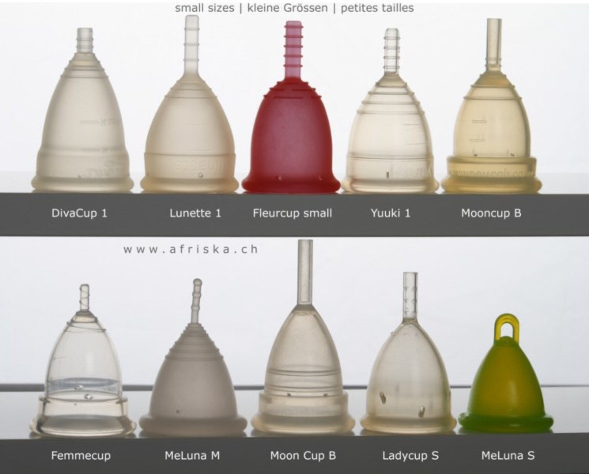 Menstrual cups are available in many different shapes and sizes from different manufacturers.