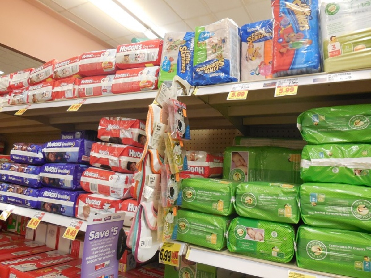 Choosing diapers in the store can seem overwhelming but it doesn't really matter much which you select if they're a comfortable fit and you change them often