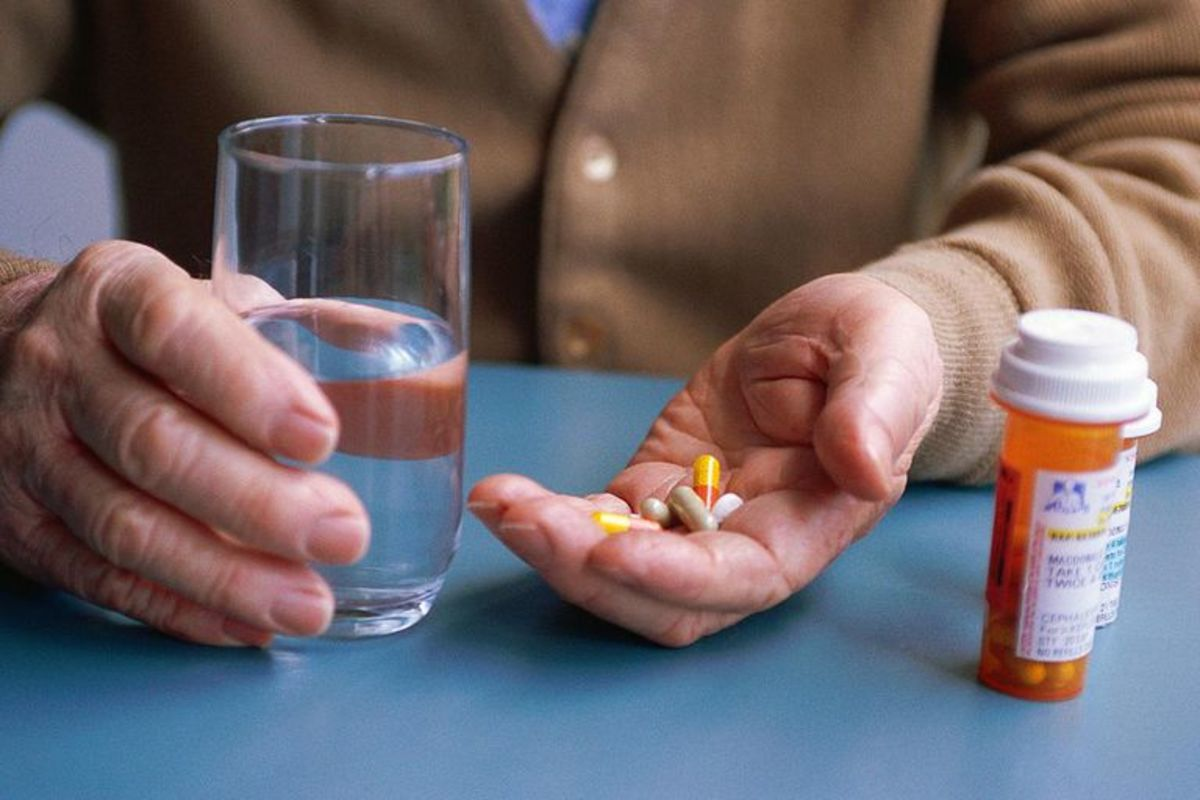 Take medicine with water