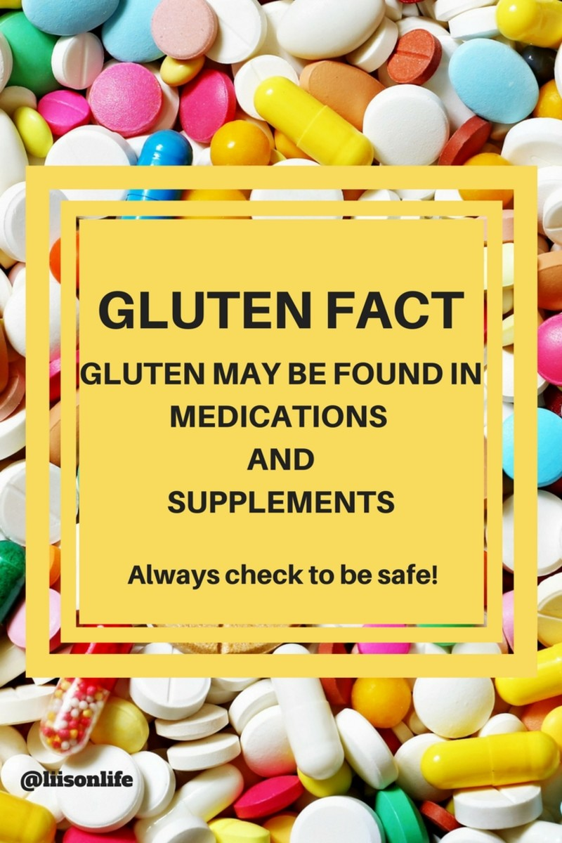 Medication and supplements can contain gluten - always research before taking any