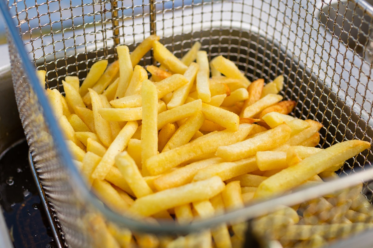 Food is no longer gluten-free if cooked in the same deep fryer as gluten-filled foods