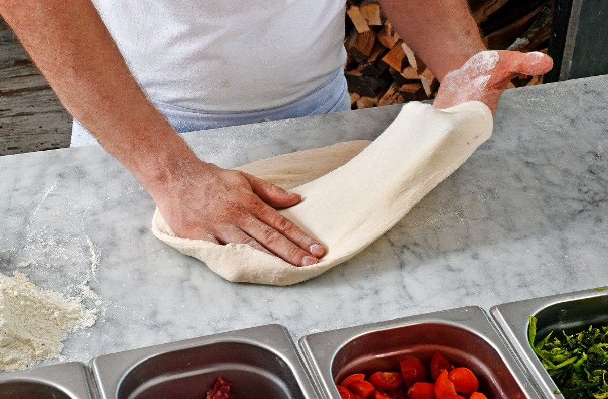 Gluten acts as a glue and helps give breads elastic texture and chewiness