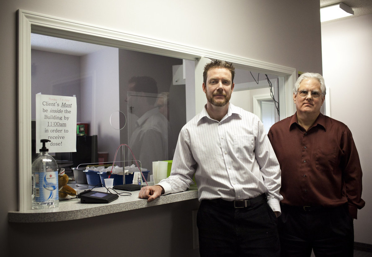 The inside of a methadone clinic is not that unlike any doctor's office.