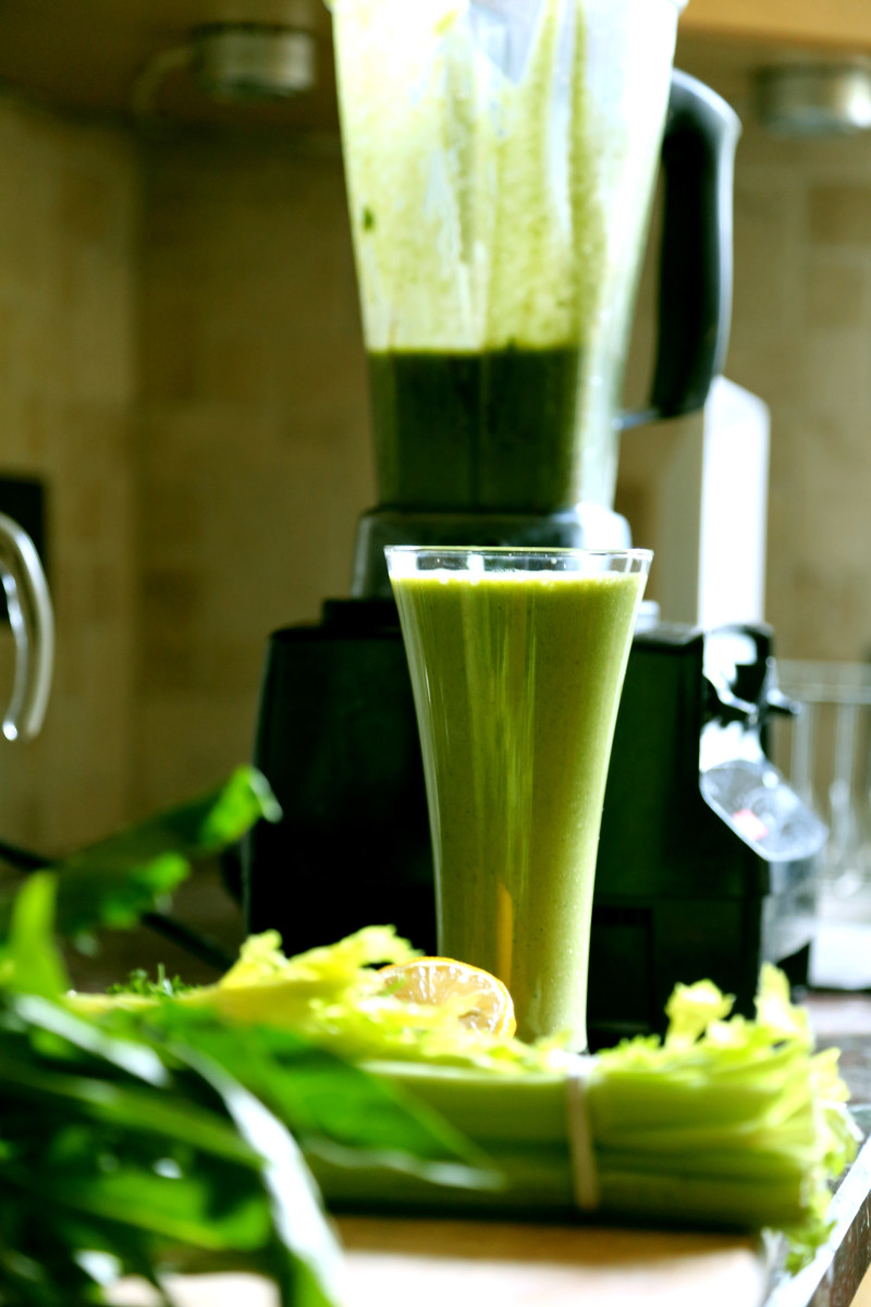 Green smoothies provide an easy way to add loads of raw greens, vegetables and fruits to your diet, which is a great way to bring your blood sugar back to normal.