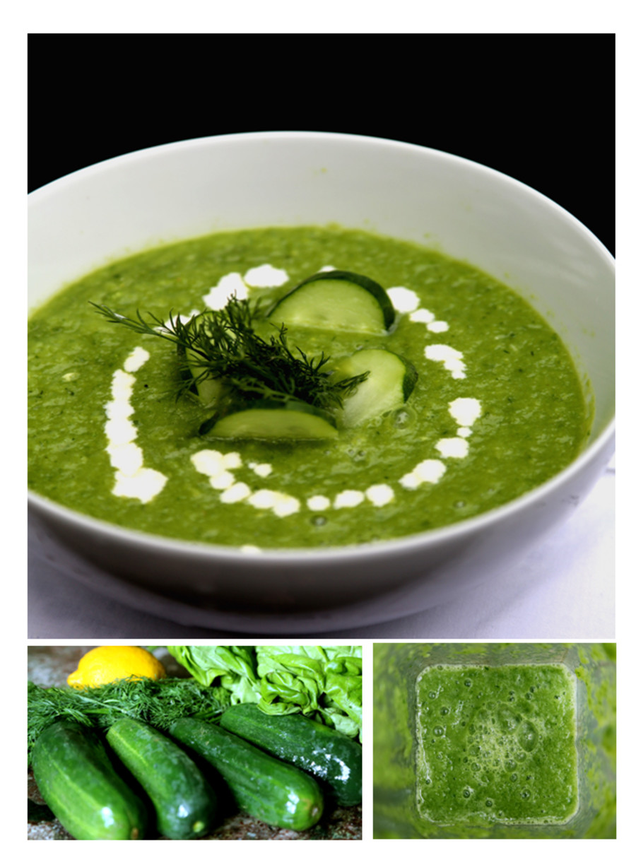 Raw cucumber soup