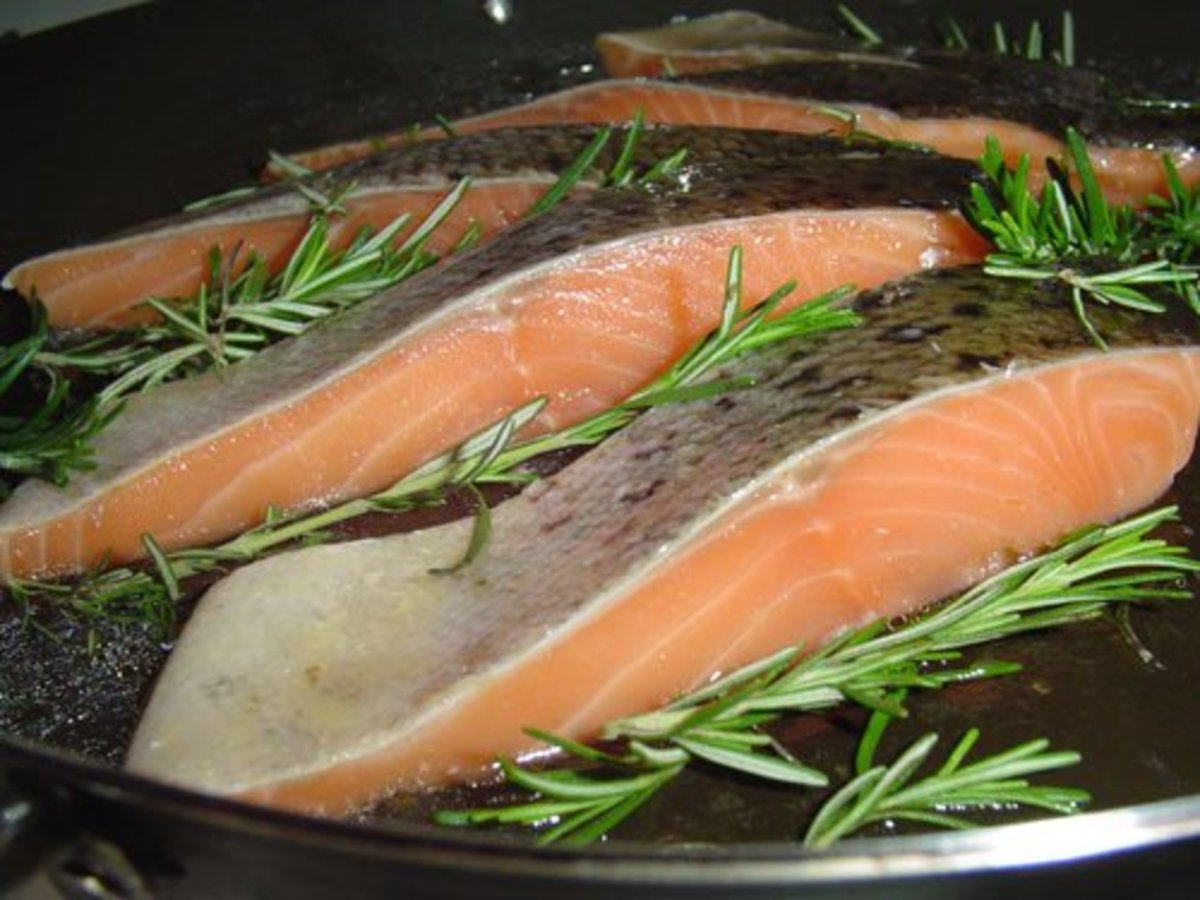 Fish is part of a heart-heathy diet.