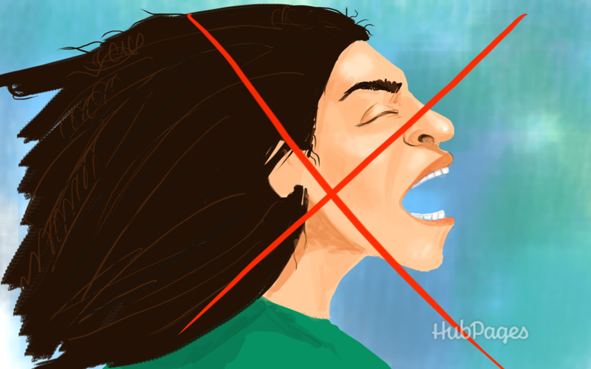 4. Avoid screaming at all cost. That goes for yelling, too.