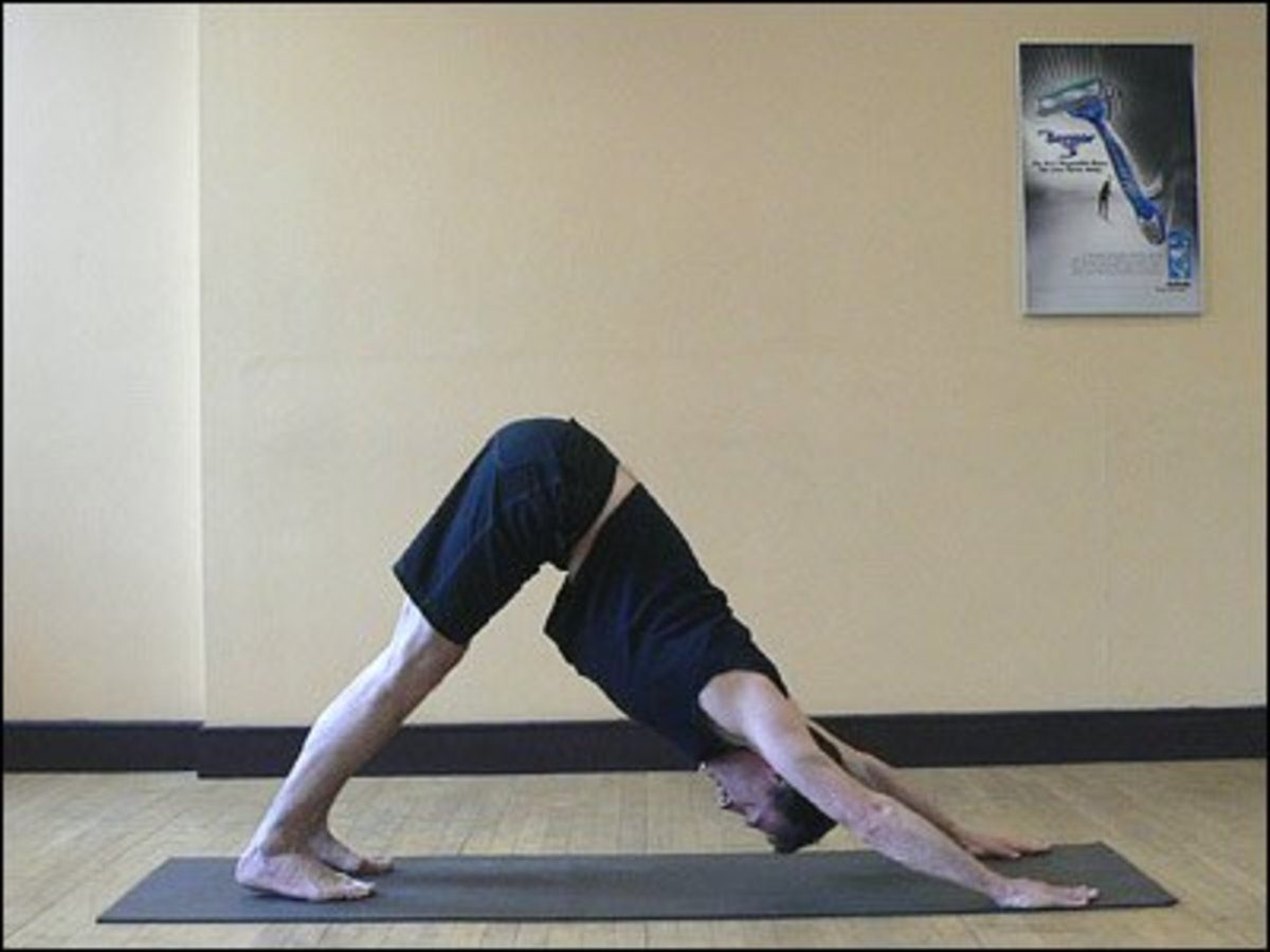 "Yoga ""downward dog"" pose is an example of an exercise that could induce heartburn."