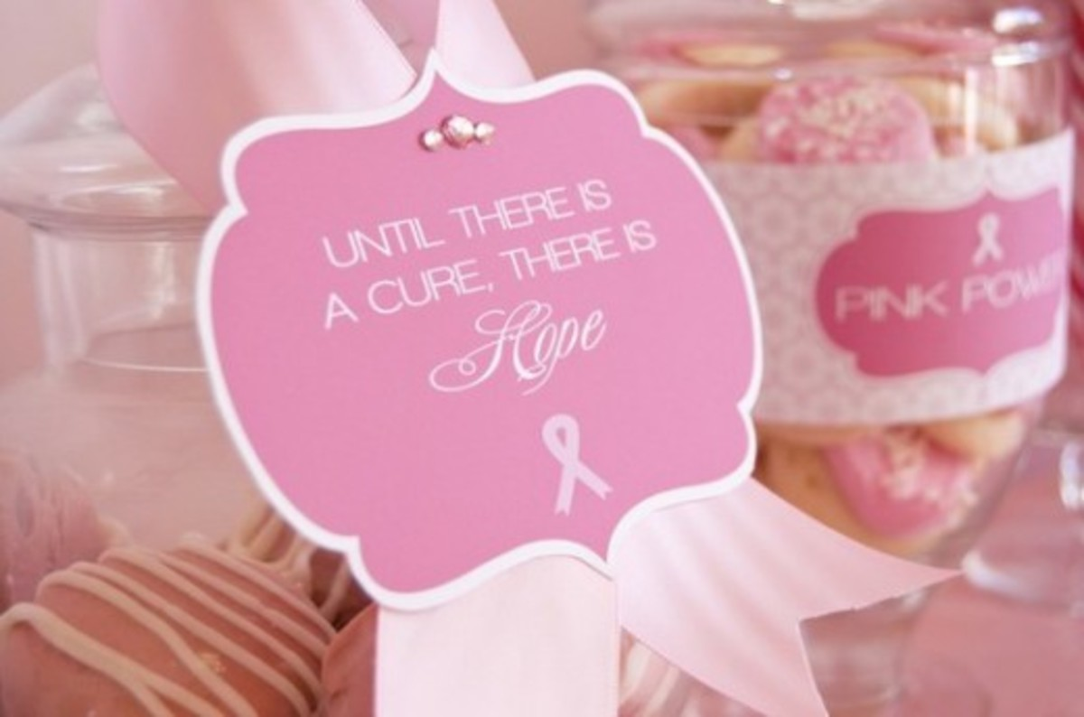 Attaching a placard to pink ribbons can get a message out