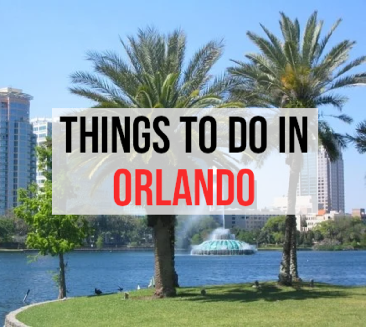 For my 12 things to do in Orlando, please read on...