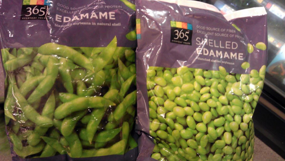 Edamame (fresh soybeans)