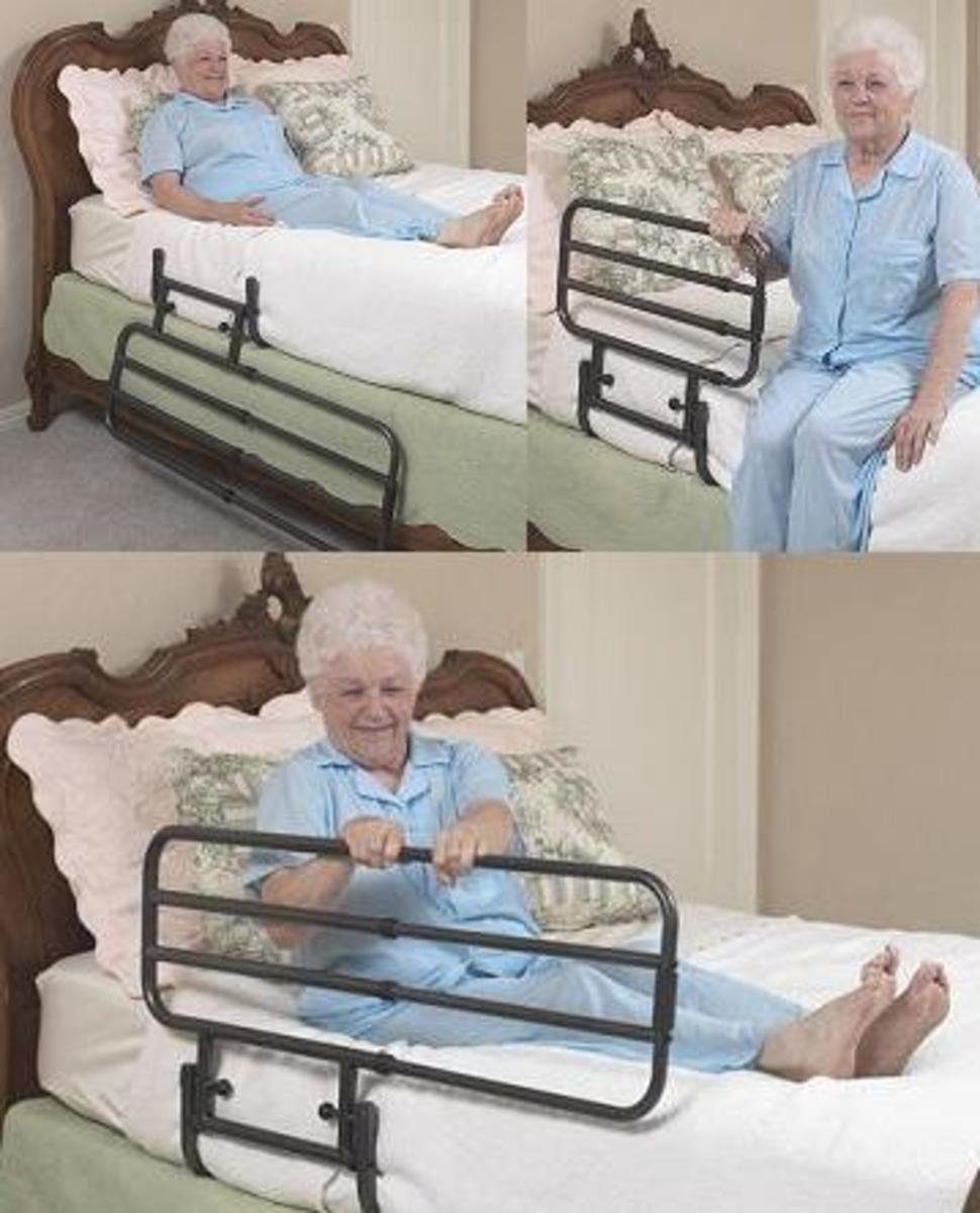 One type of bed rail