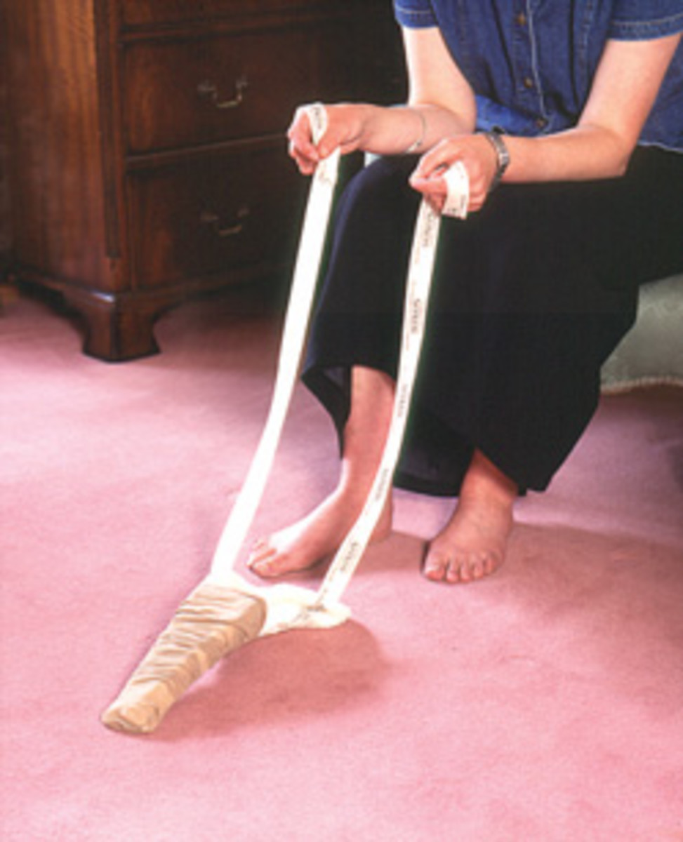 A sock or stocking aid is easy and quick to use