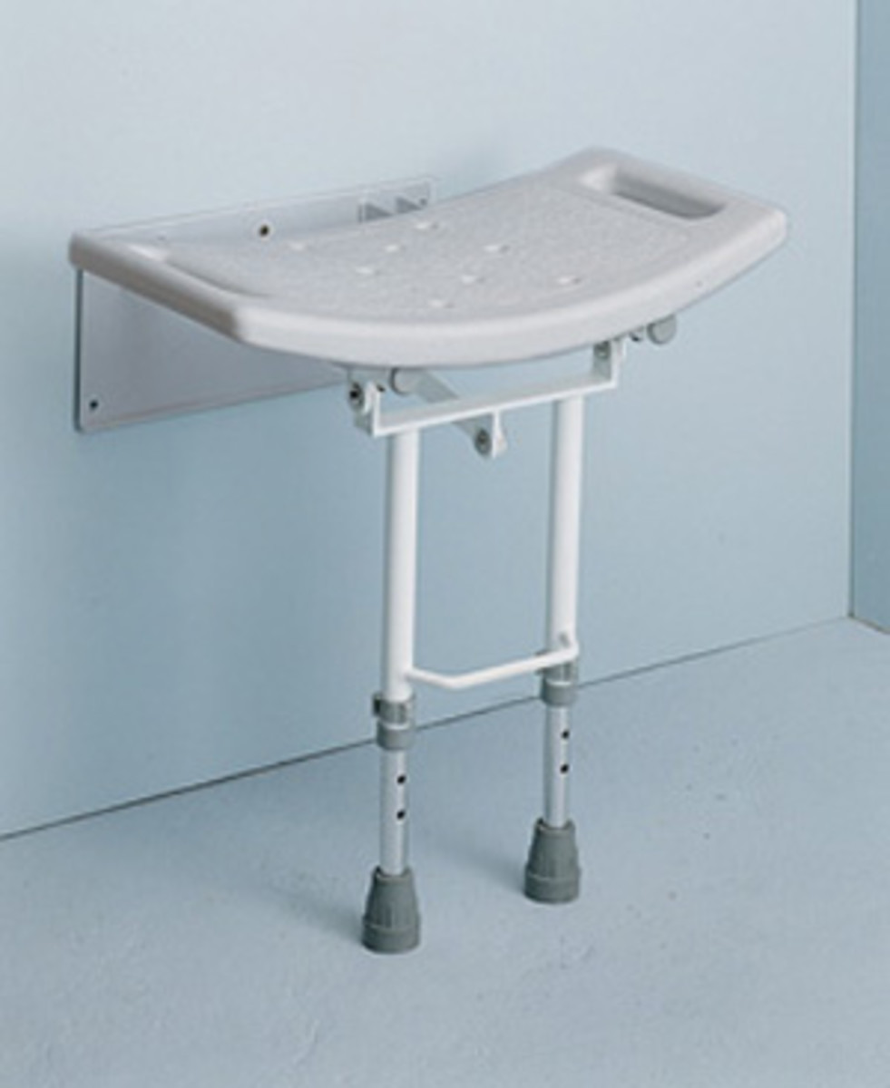 a shower seat can help take the weight off your feet in the shower