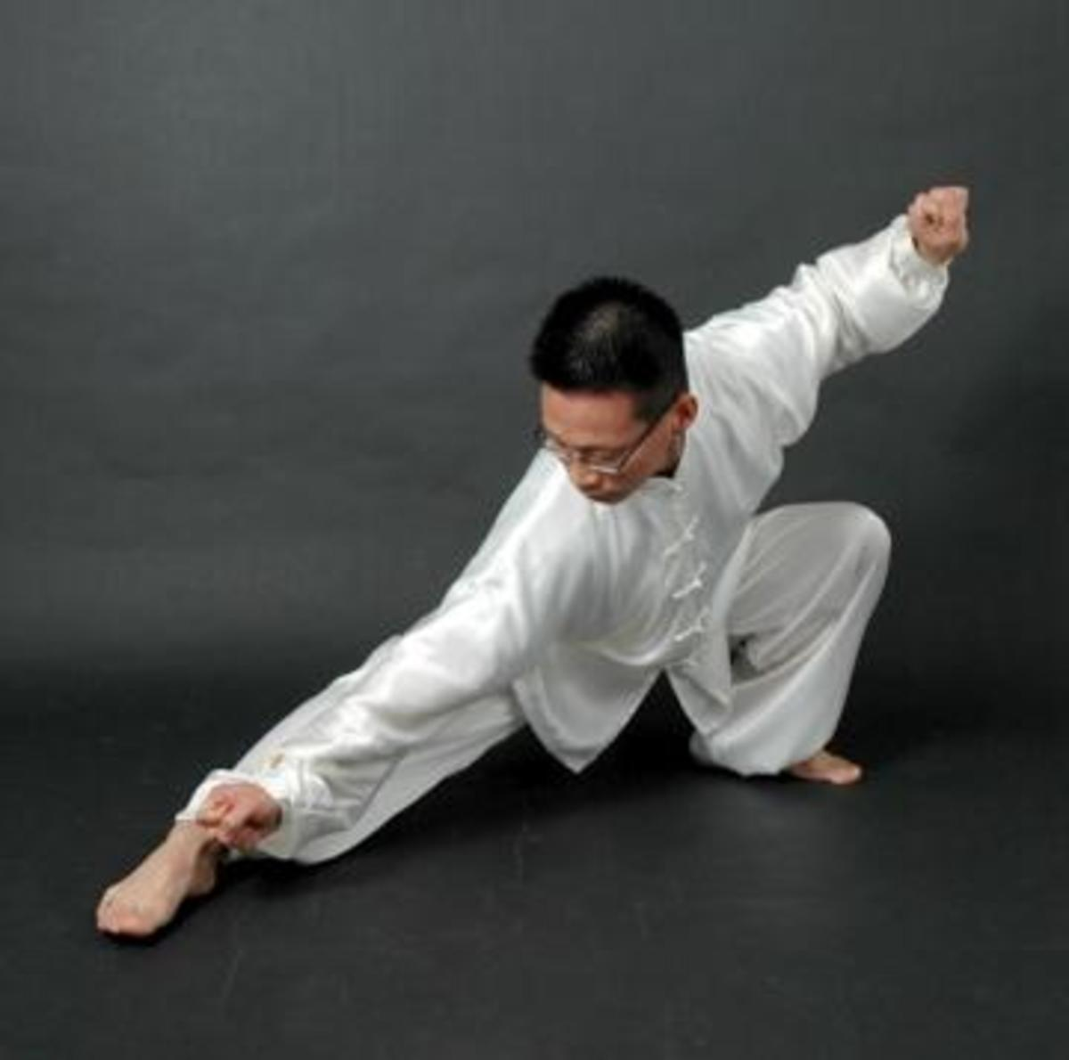 Tai Chi is gentle, precise, makes you flexible, well balanced and strongly centred.