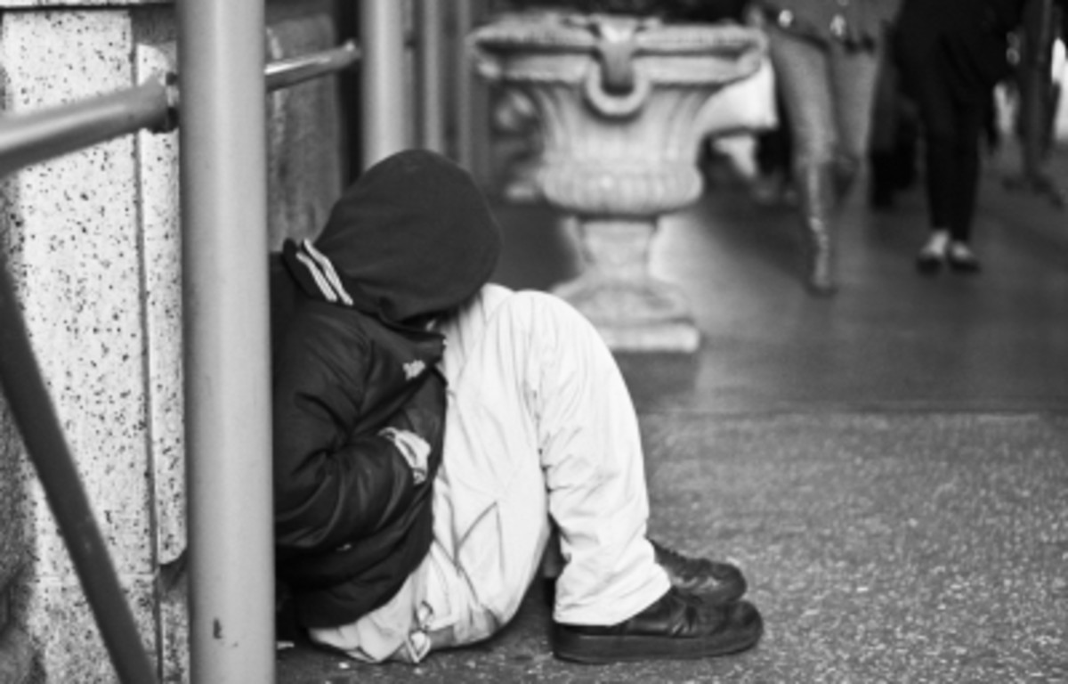 The addict could end up homeless on the street.