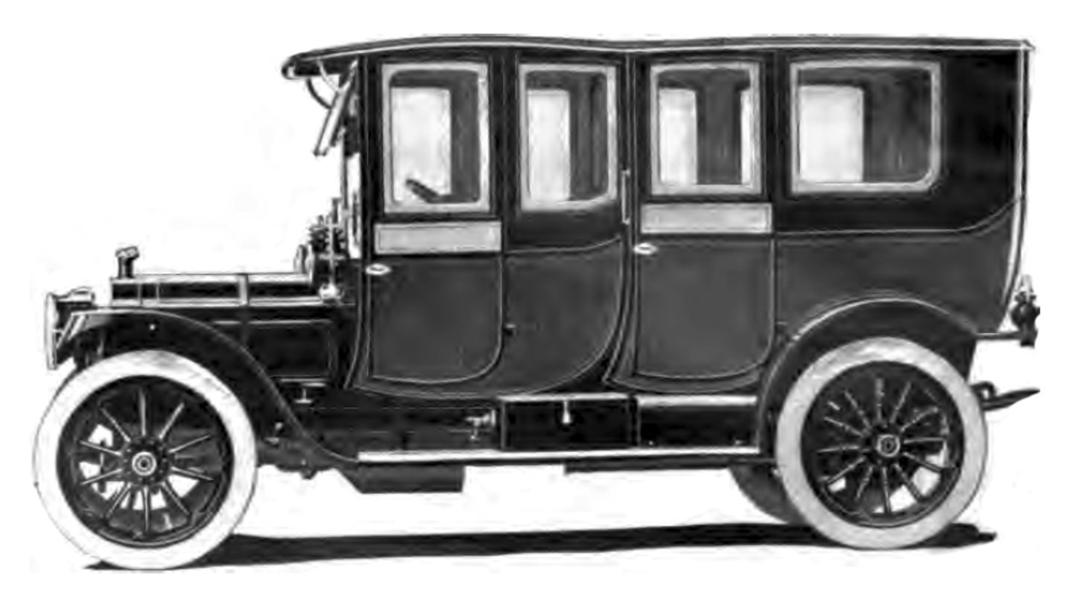 The original car: a few chairs screwed into a box on wheels