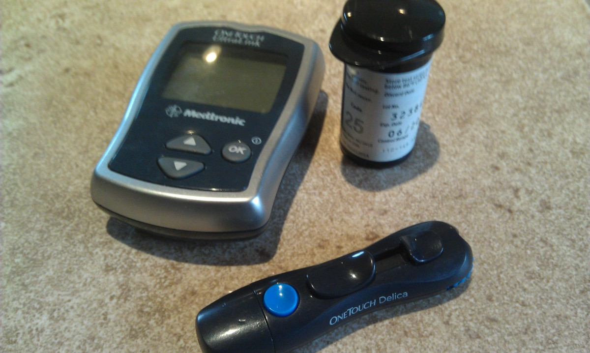 Testing supplies for a diabetic