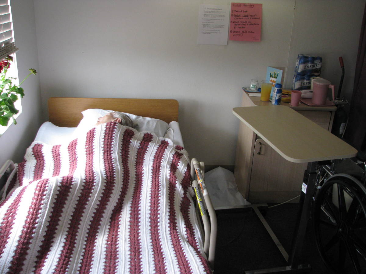 End Stage: Nicole and Michael were both unable to leave bed or speak much in their last weeks of life.