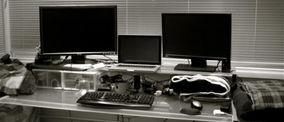 My workspace, as a freelance technical writer, documenting software.