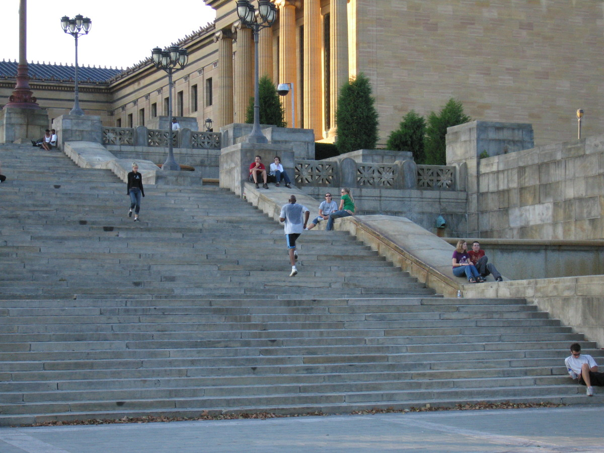 These famous steps leading to the Philadelphia Museum of Art can be painful for arthritis sufferers.