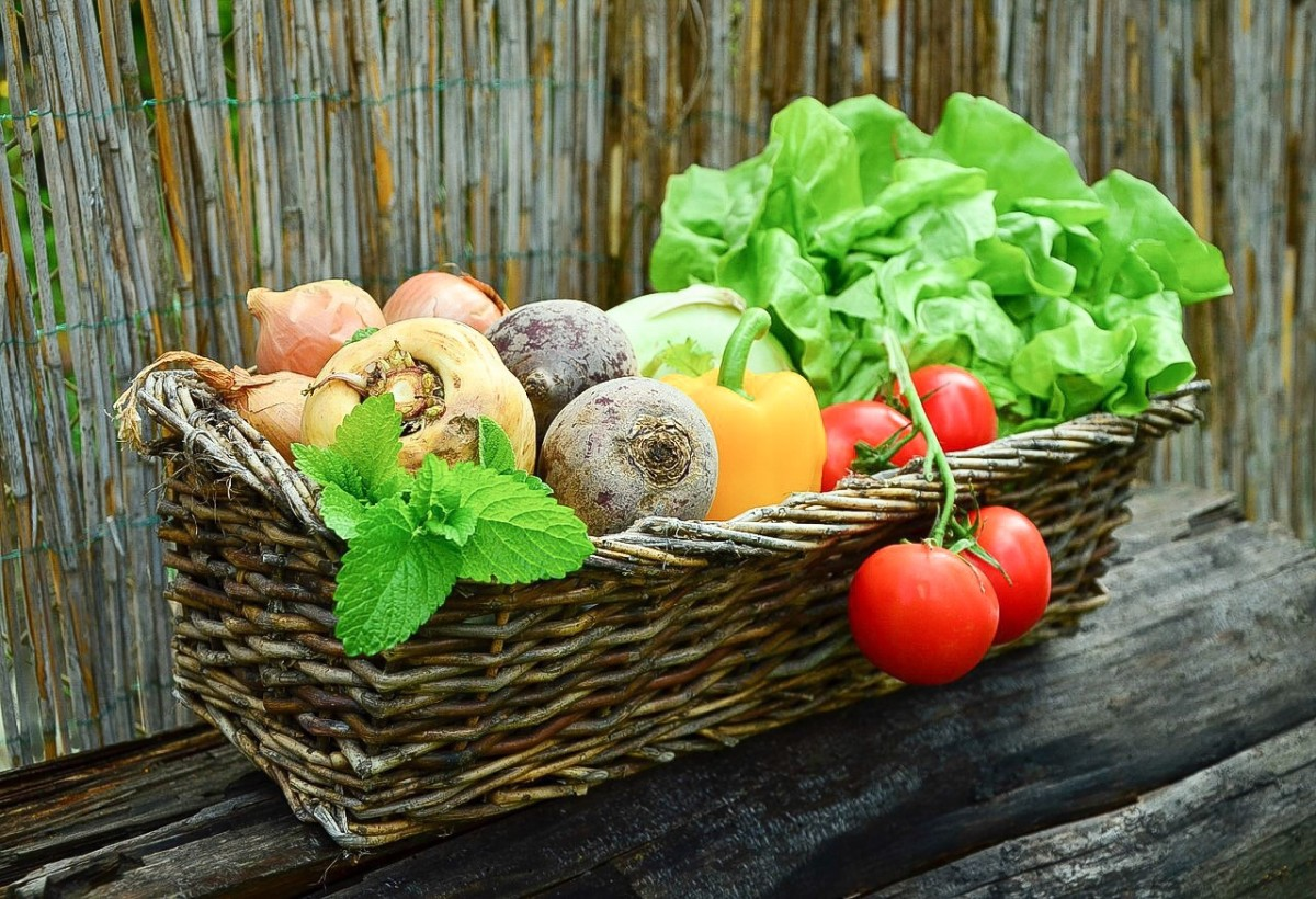 Vegetables and herbs are rich in potassium and other healthy nutrients.