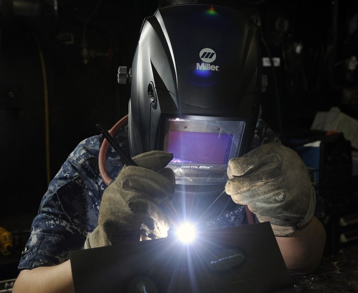 Arc welding produces UV radiation.