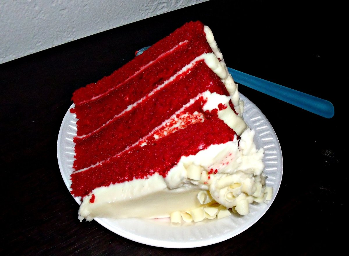 Eating lots of red Velvet cakes can color your stool.