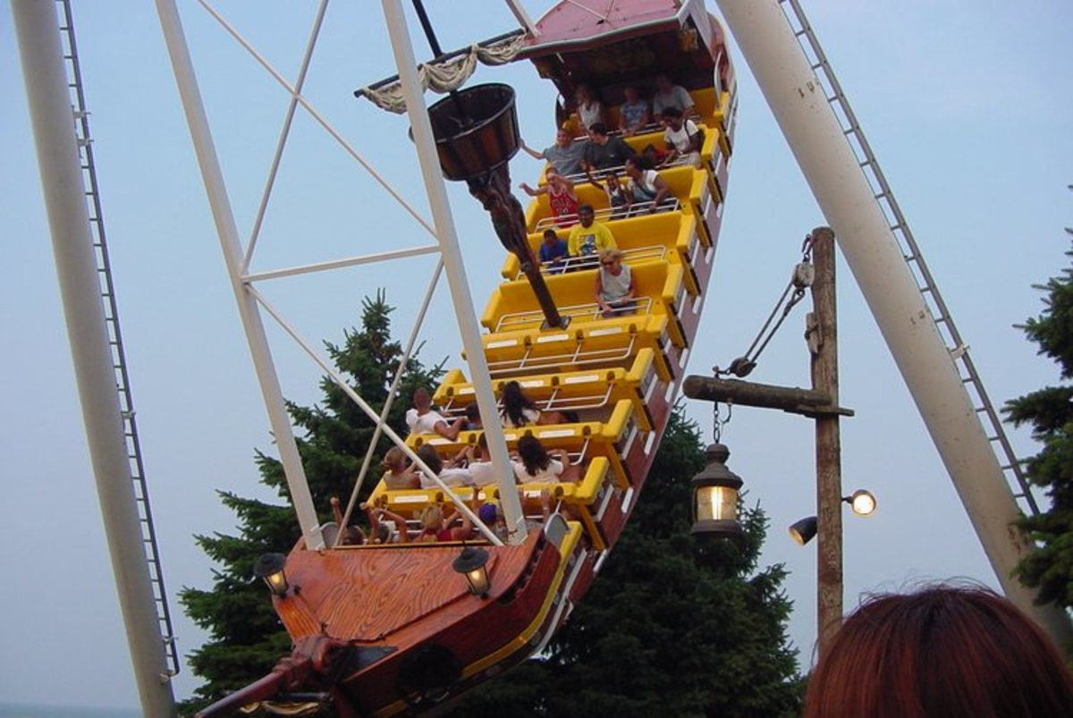 Ocean Motion thrill ride at Cedar Point Amusement Park in Sandusky, Ohio