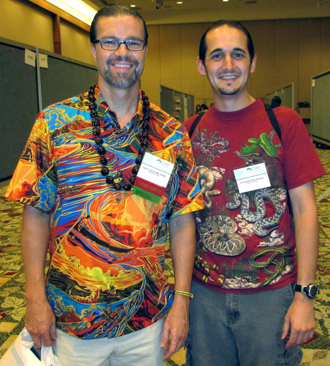 That's me on the right with Dr. Sean Bush (of Animal Planet's Venom ER), one of the leading doctors on snakebite in the United States.  You can find his paper on what to do for snakebite in the references section at the bottom of this article.