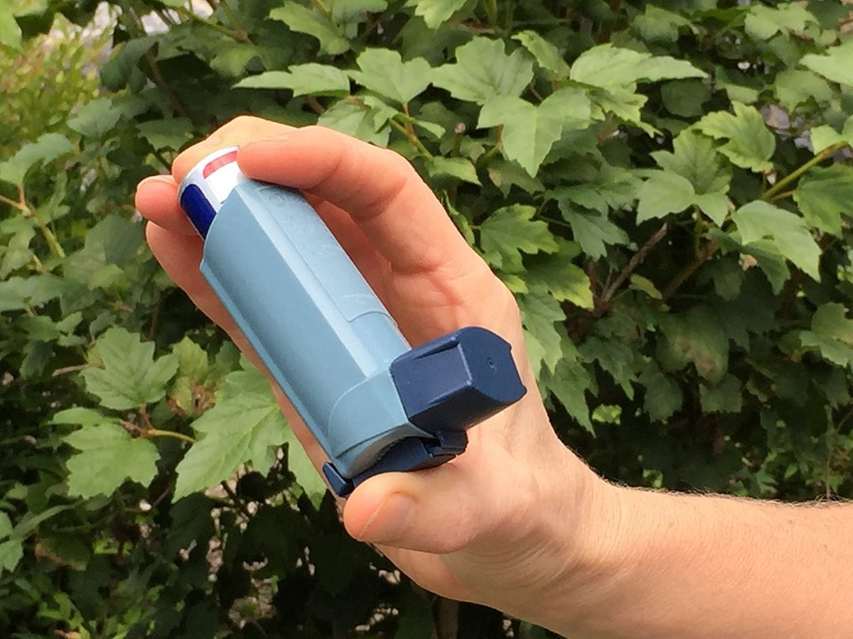 An asthma rescue inhaler
