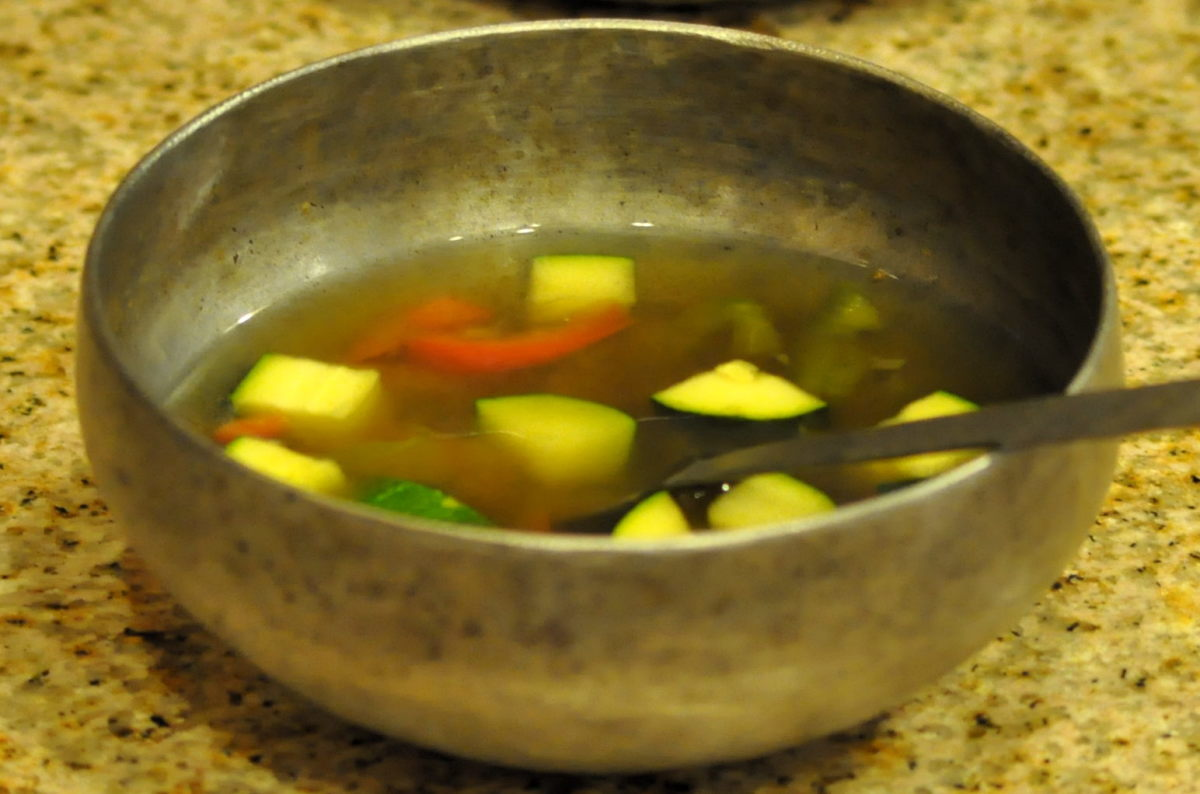 Vegetable, chicken, or beef broth is nutritious and ideal for a healing mouth. Make sure the veggies or meat are cooked very well.