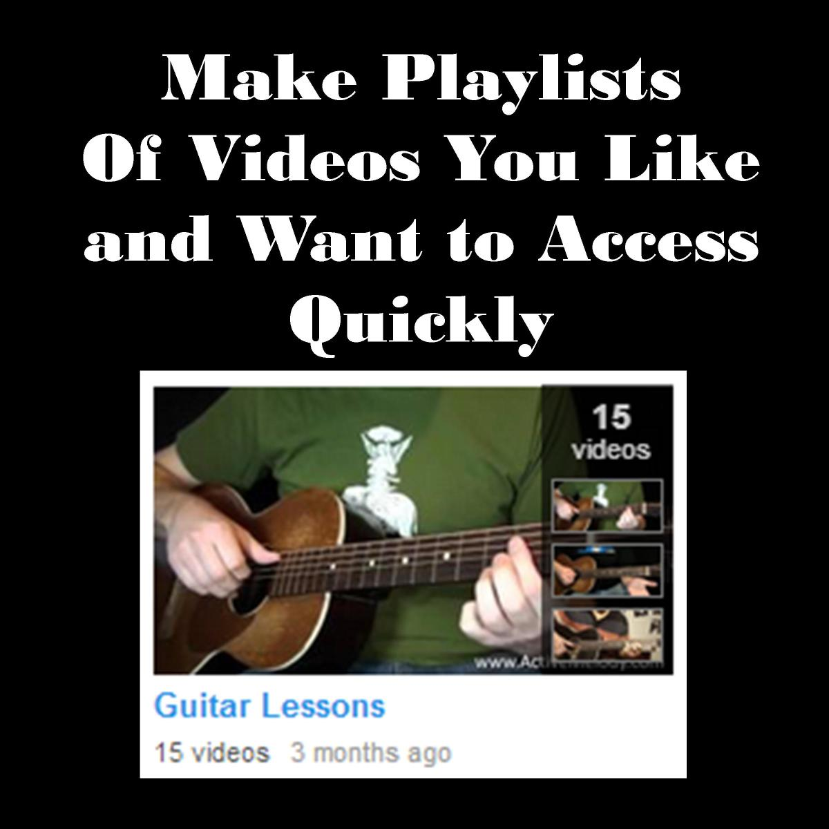 If you create playlists under a YouTube account, it can be faster and more convenient than putting in a DVD.