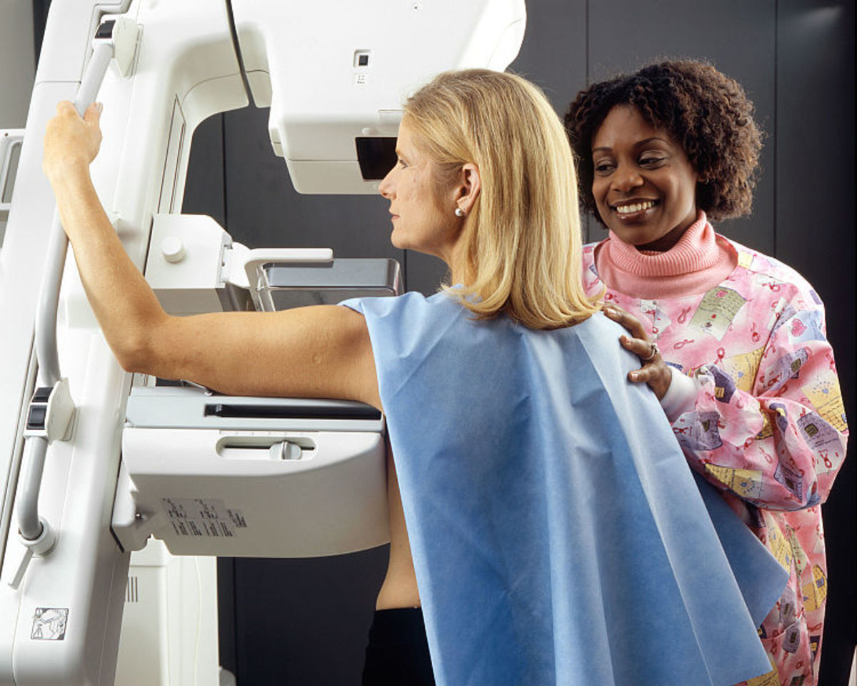 Mammogram for breast cancer screening. Image by Rhoda Baer