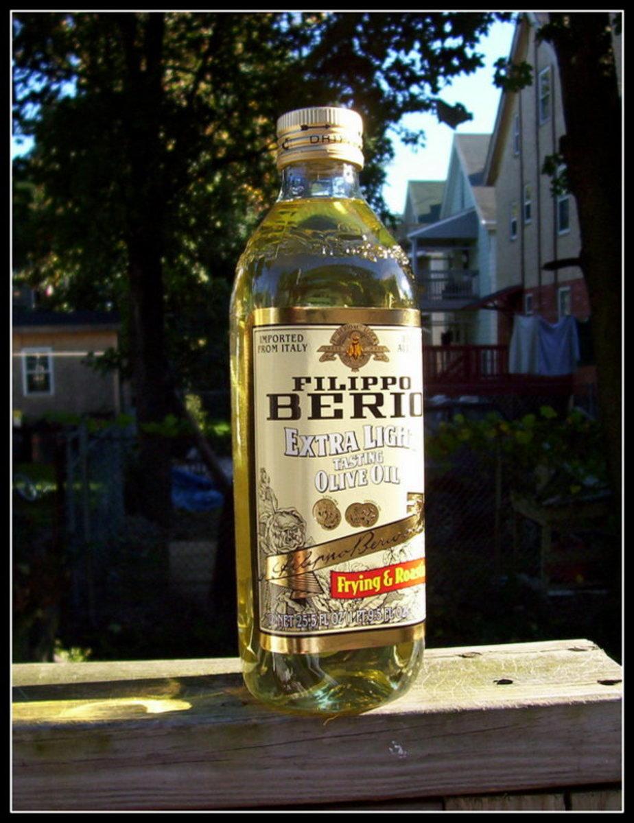 Olive oil makes a great moisturiser for your flea bite marks