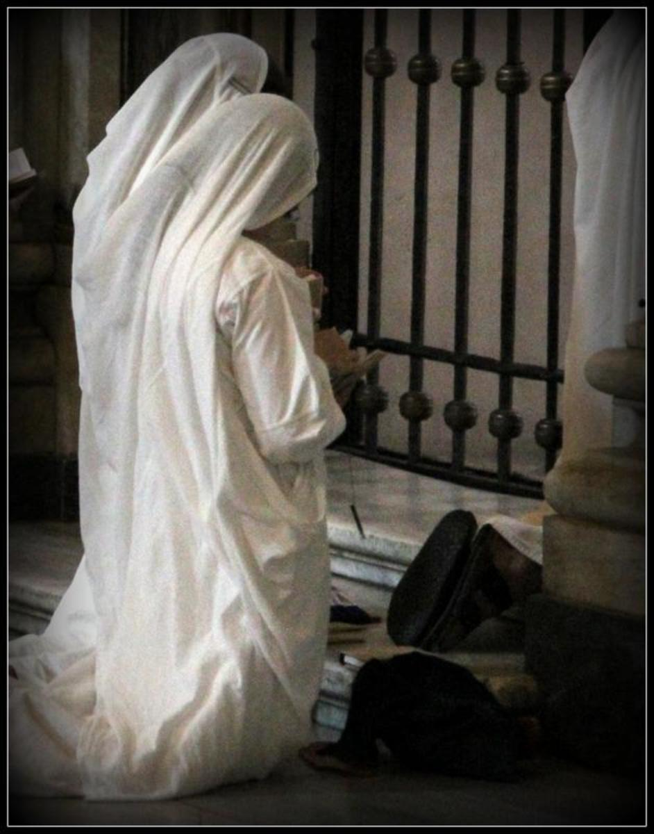 Covering up and praying is one option!