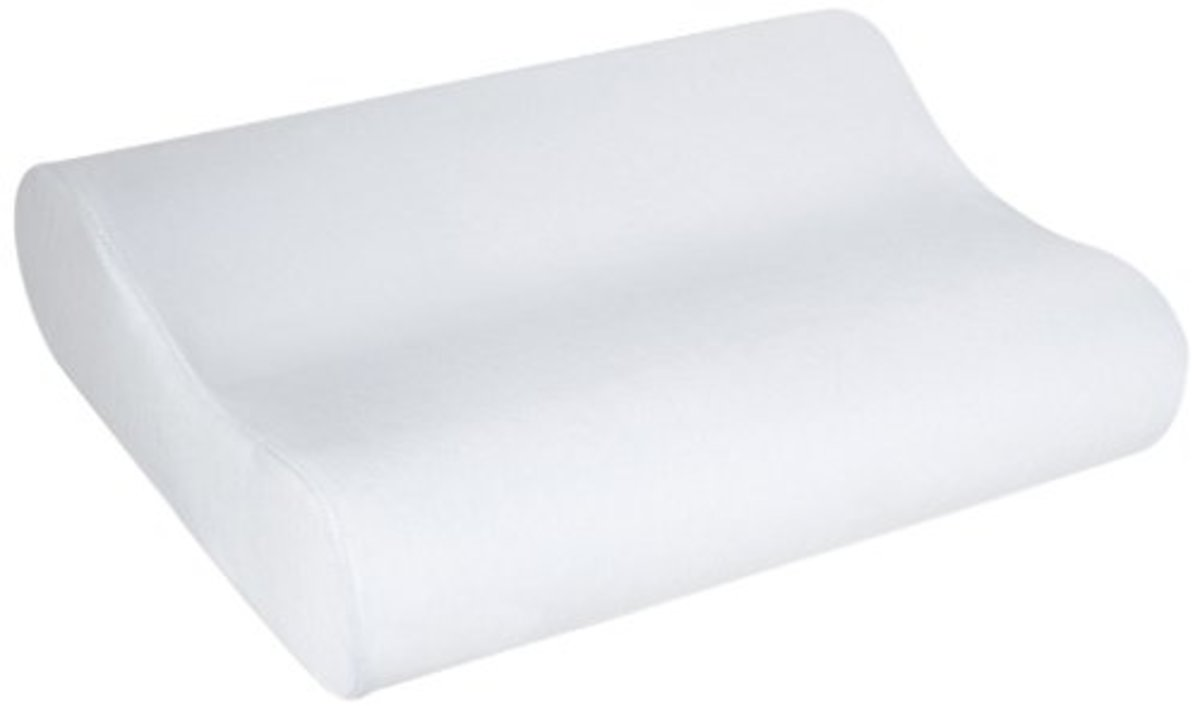 Memory foam contoured pillow.