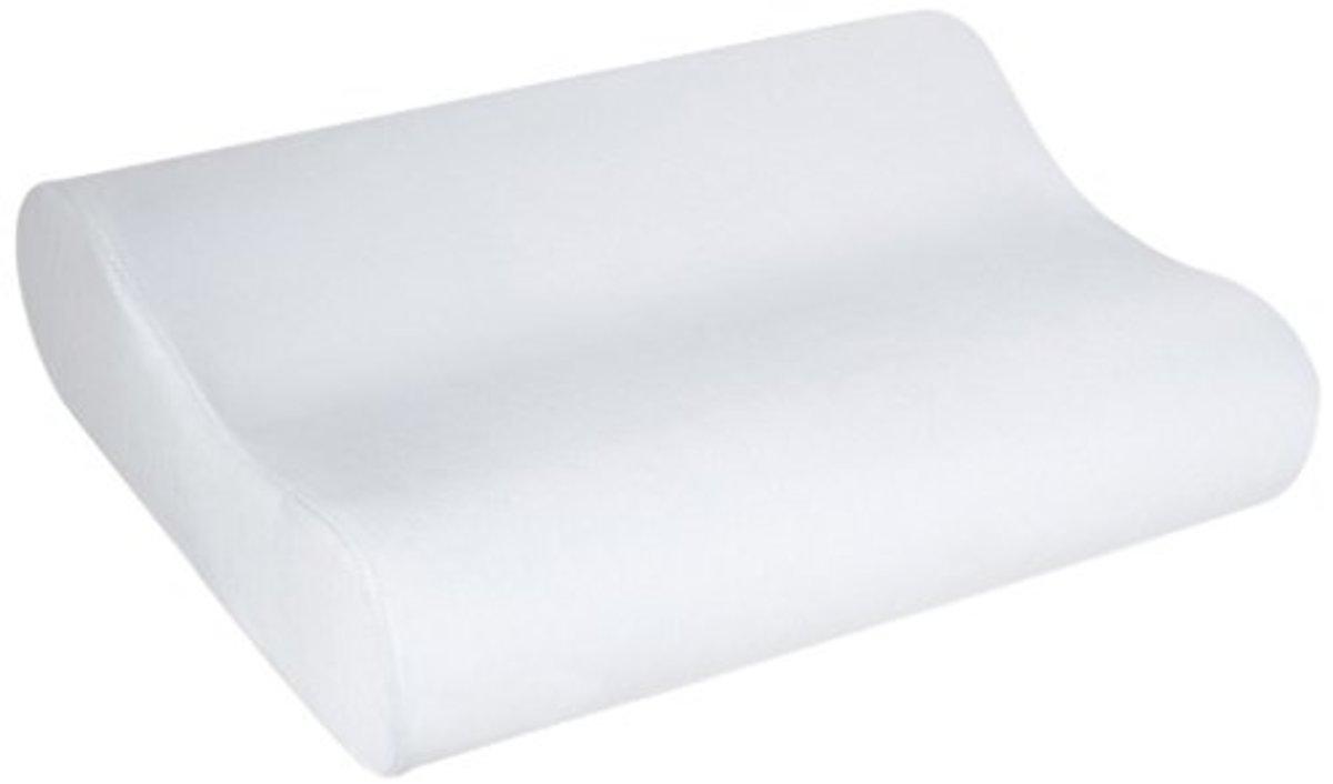 Memory foam contoured pillow.
