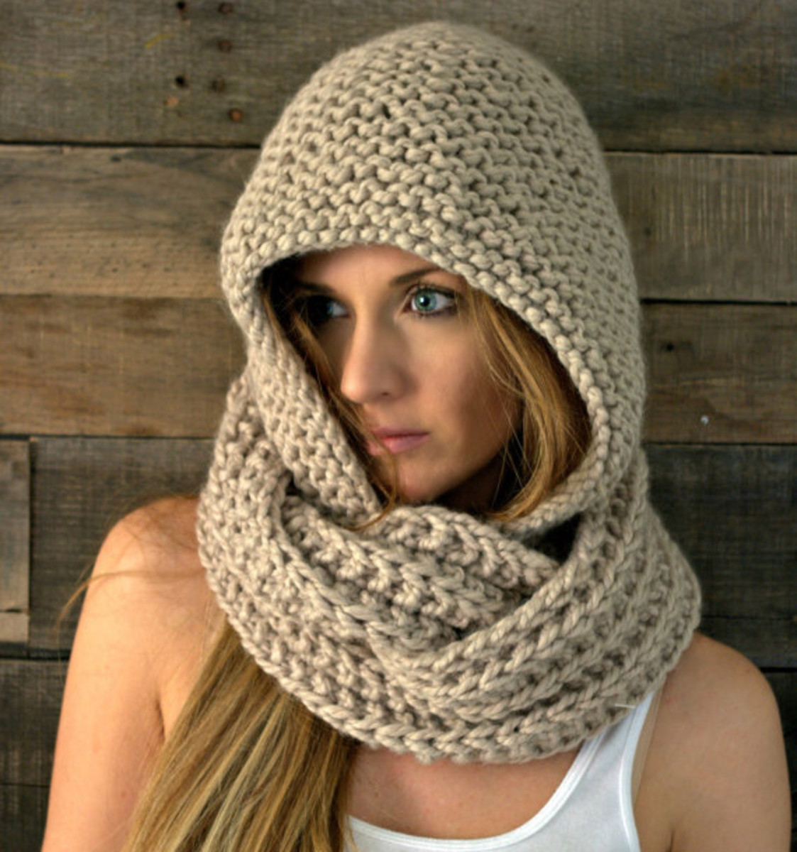 or a hooded scarf