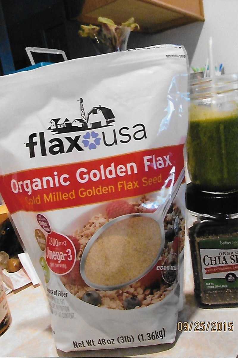Put Flaxseed and Chia Seed in a green drink. Wonderful source of Omega-3.