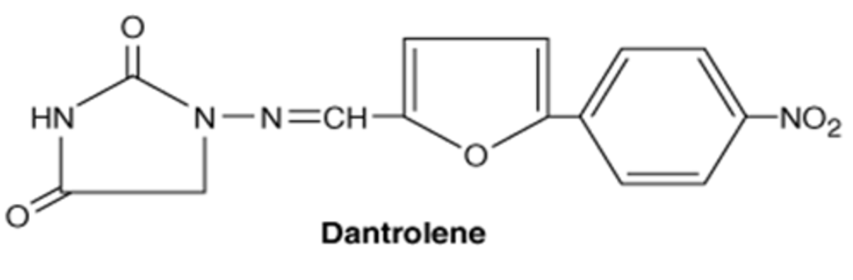 Chemical structure of Dantrolene