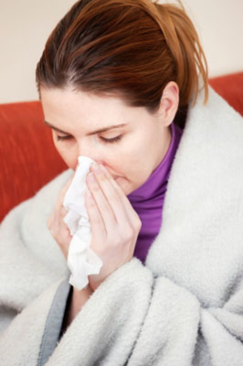 Coughing, sneezing and talking spread contaminated influenza droplets.