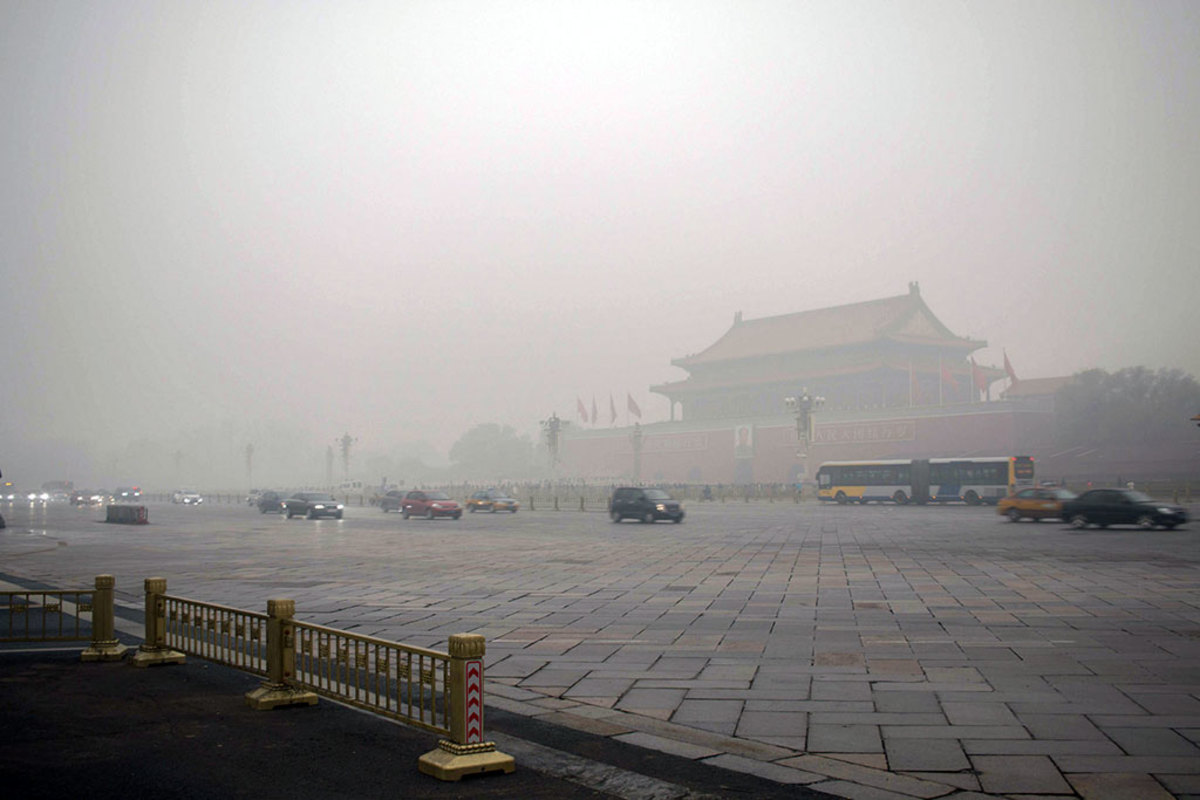 Beijing, China: High pollution levels can cause lung cancer.