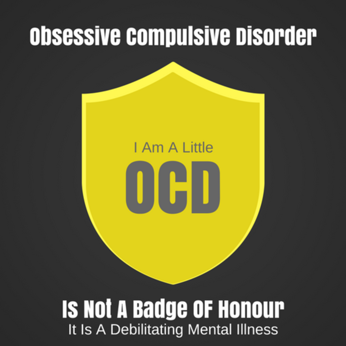 OCD Is Not A Badge Of Honour