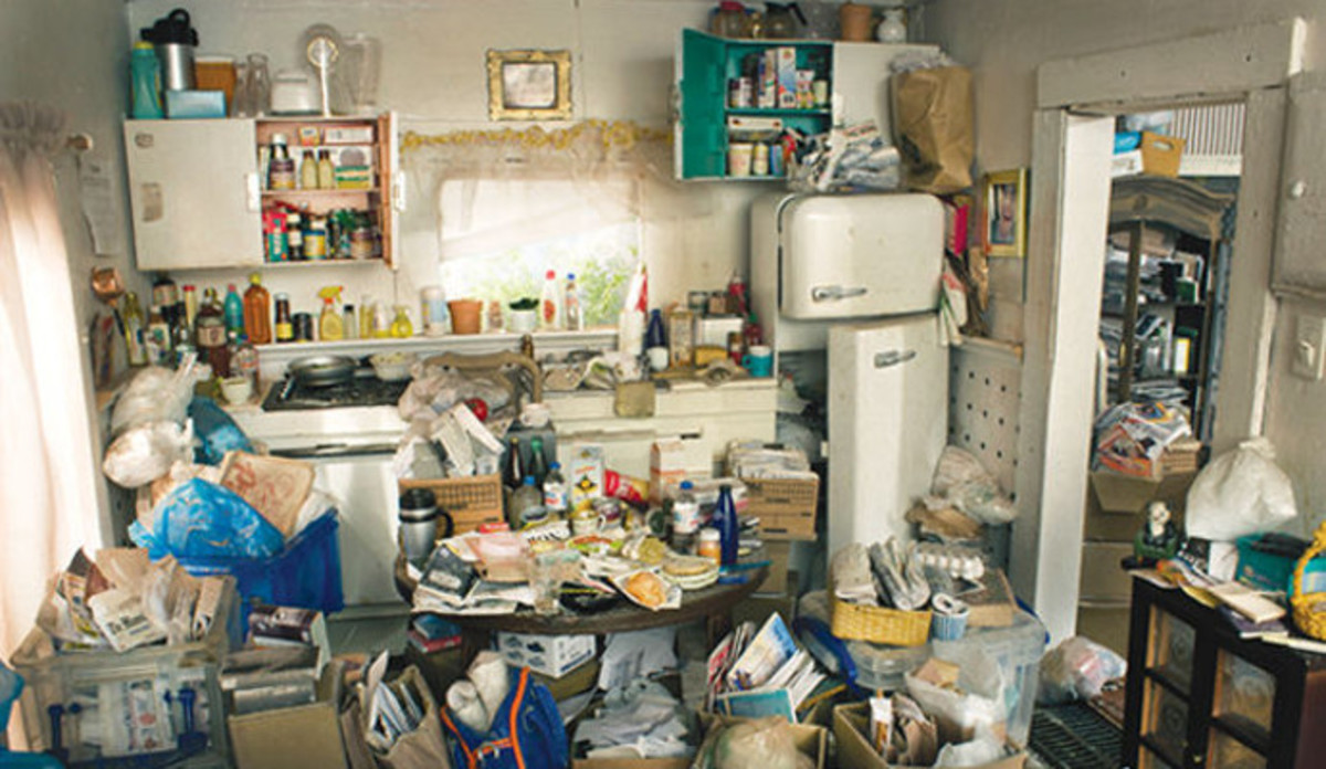 A typical hoarding environment